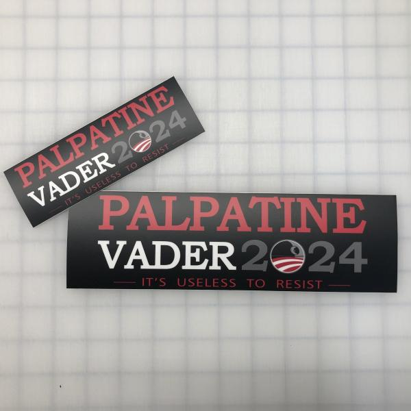 Palpatine-Vader 2024 printed decal picture
