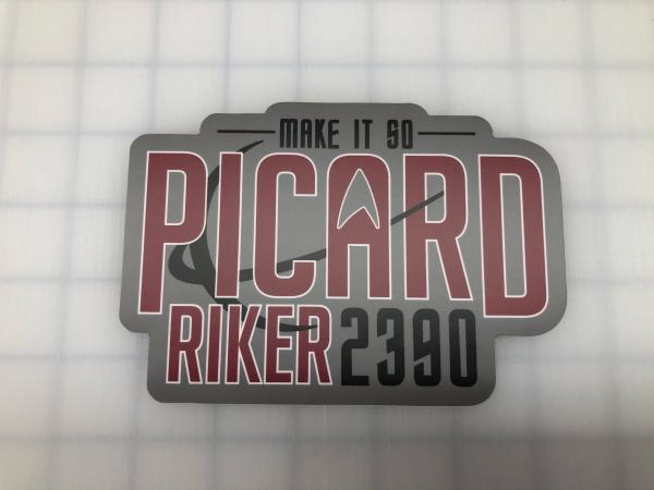 Vote Picard-Riker 2390 printed decal
