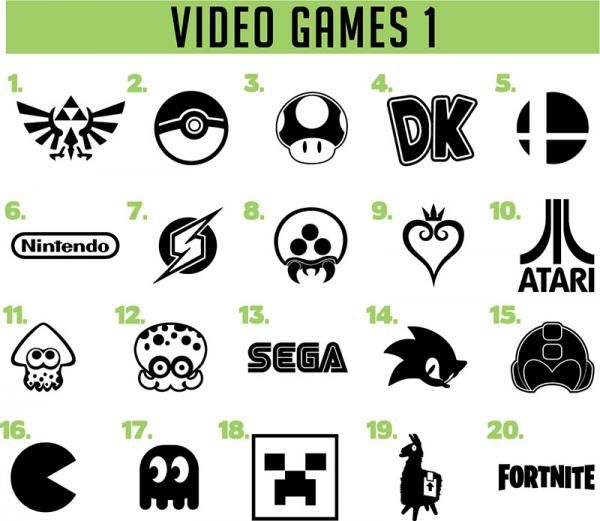Video Game vinyl decals
