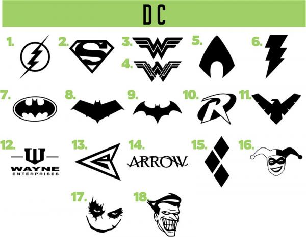 DC vinyl decals