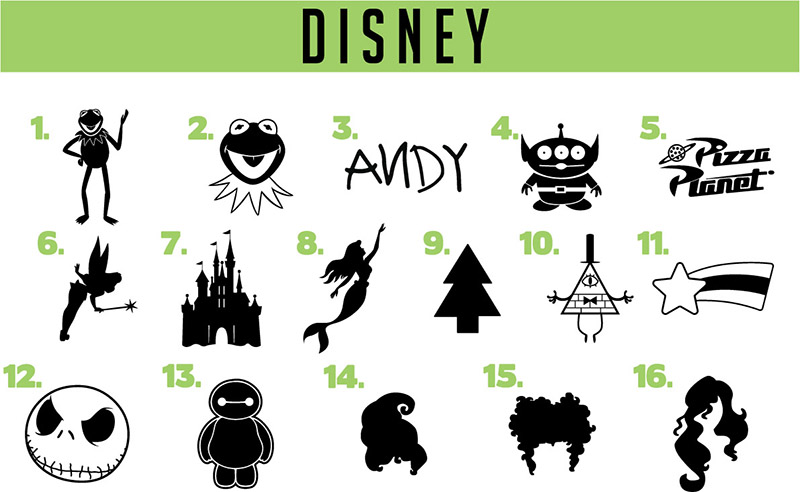 Disney vinyl decals