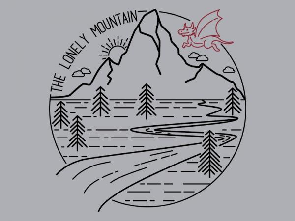 The Lonely Mountain / Hobbit LOTR inspired t-shirt