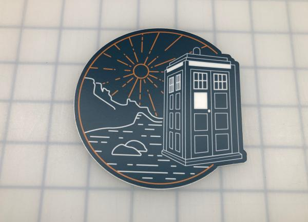 TARDIS printed decal