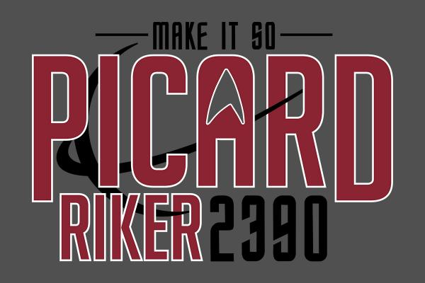 Elect Picard-Riker 2390 / Star Trek inspired t-shirt