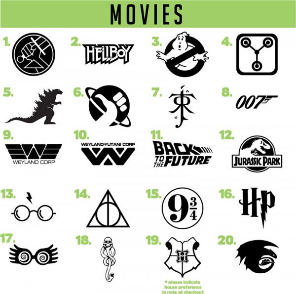 Movies vinyl decals