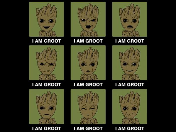 Many Moods of Groot / Marvel Guardians inspired t-shirt