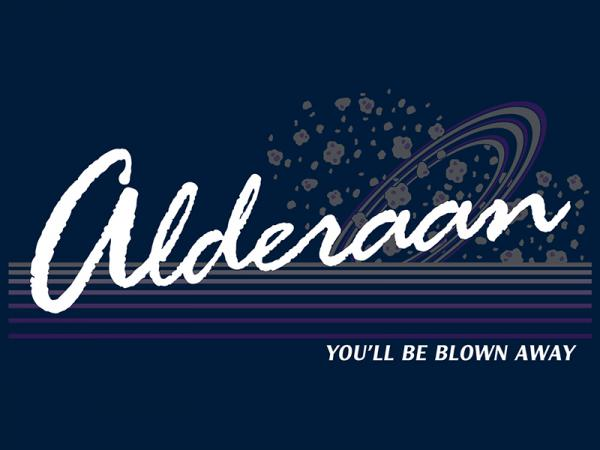Alderaan / Star Wars inspired vacation t-shirt