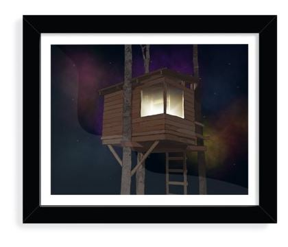 Art Print - Treehouse Under the Stars