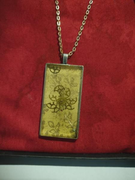 OOAK Steampunk Pendant in Box -1 picture