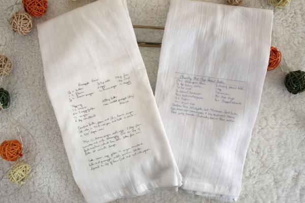 Custom Recipe Towels