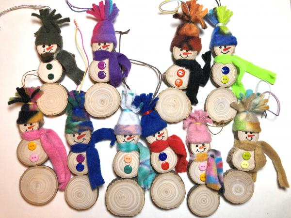 Snowman Christmas ornaments, can be personalized.