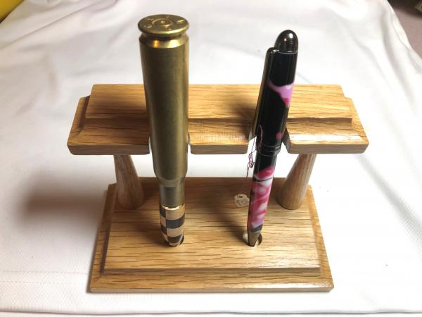 Pen display from oak or maple picture