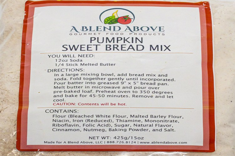 Pumpkin Sweet Bread Mix