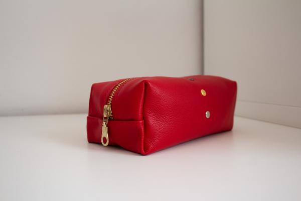 "Handmade leather bag/pouch (""rouge"")"