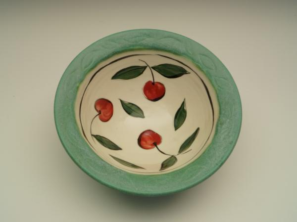 Turquoise porcelain cherry bowl picture