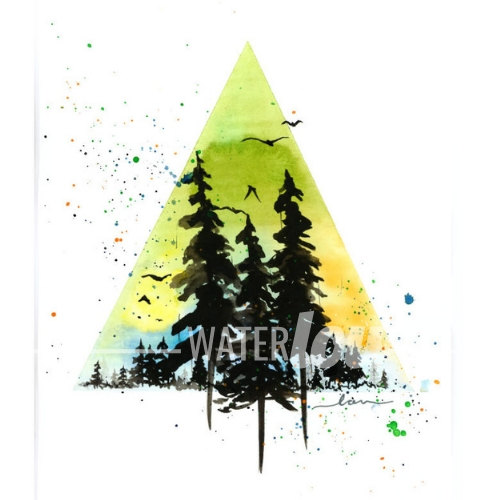 Triangle Forest Print
