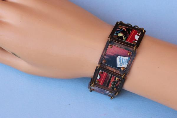 B316 Movie Poster Tin & Copper Bracelet