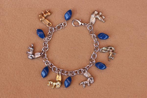B334 Democratic Donkey & Blue Beads