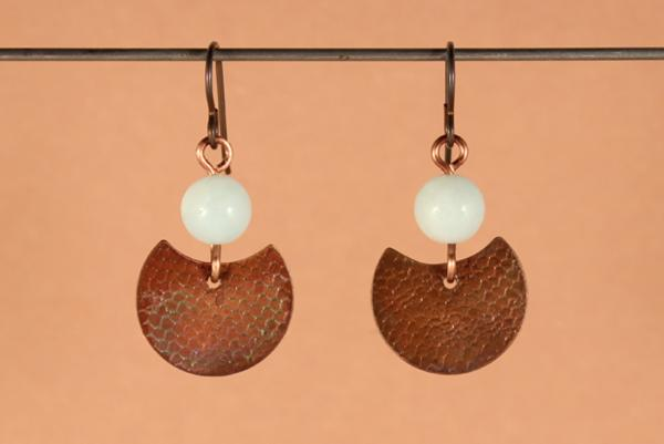 E415 Textured Copper & Amazonite