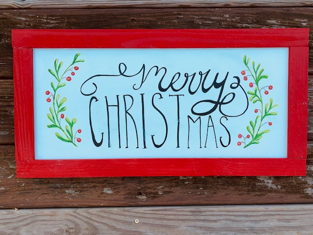 Merry Christmas Wood Sign picture