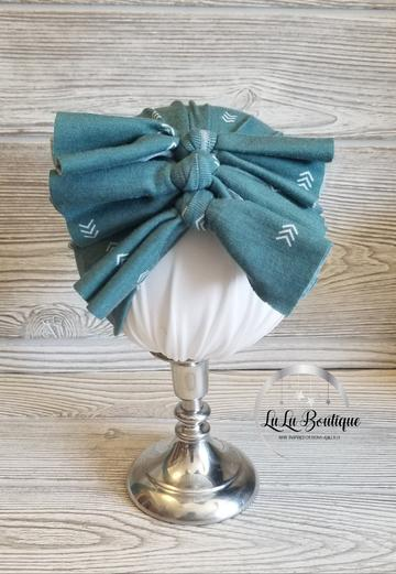 Soft Jade Arrow Baby Headwrap- 3 STYLES!