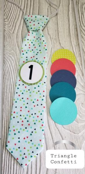 TRIANGLE CONFETTI-MONTHLY MILESTONE TIES PHOTO PROP