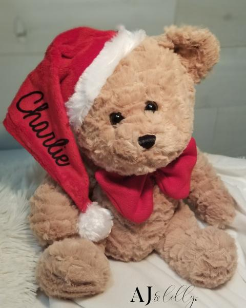 PERSONALIZED SANTA TEDDY