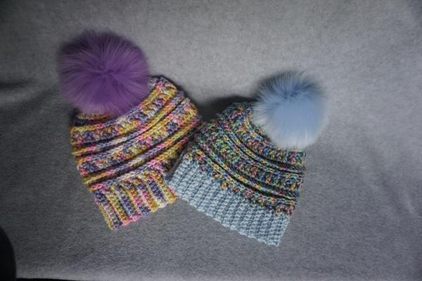 12 to 24 Month Size Hat With Removable Pom