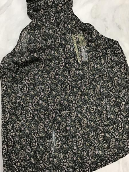 Elan Black Paisley Halter Neck Top, Medium picture