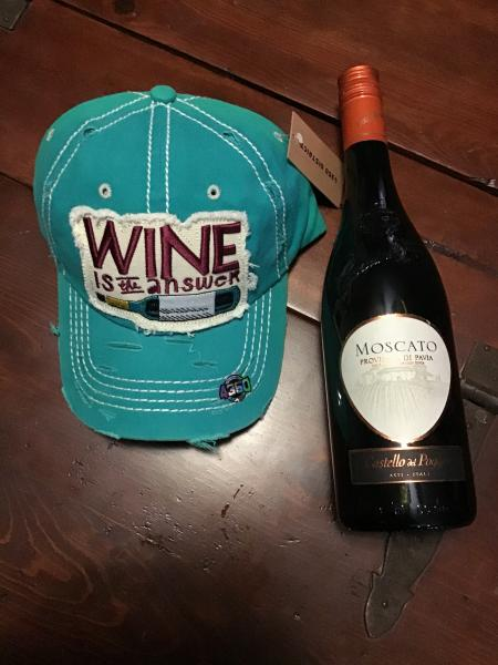 Wine is the Answer Hat, Turquoise picture