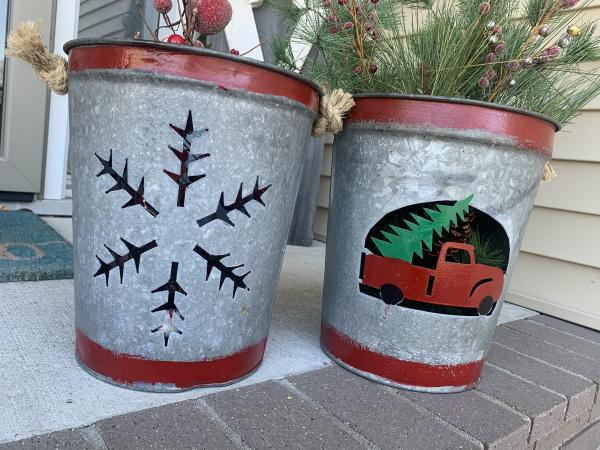 Christmas Porch Pots