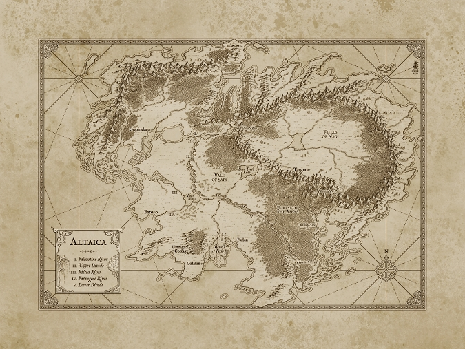 Altaica Map (Artist Misty Beee)