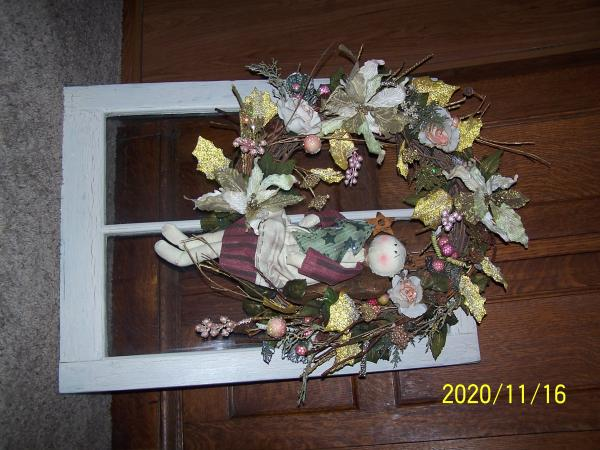 Decorated Window Frame