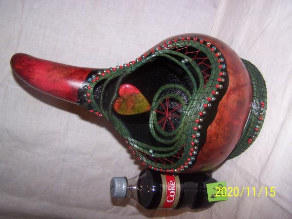 Long Neck Gourd with Pine Needle Stand