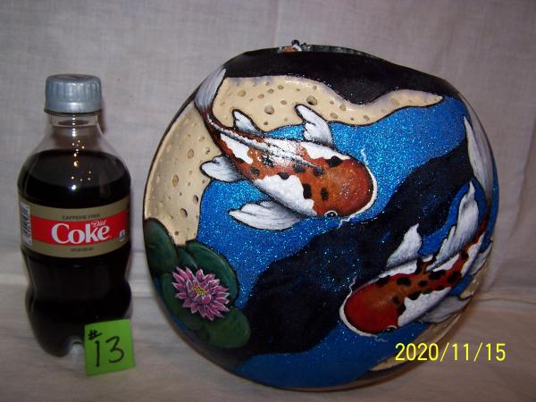 Gourd with Koi Fish