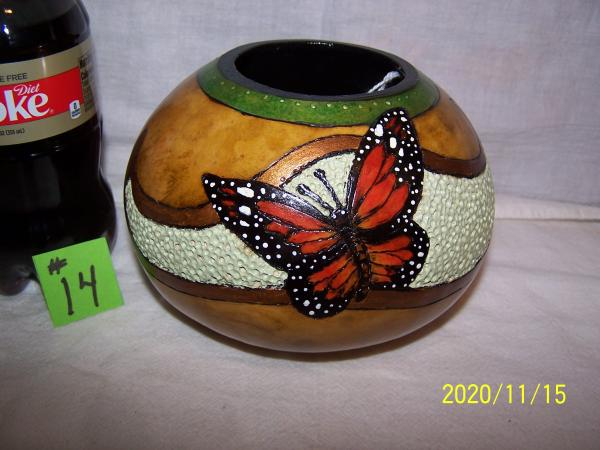 Gourd With Monarch Butterfly