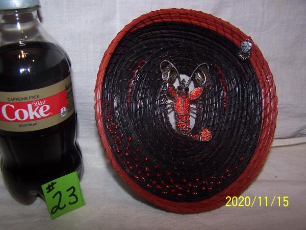 Pine Needle Basket  with Scorpion Center