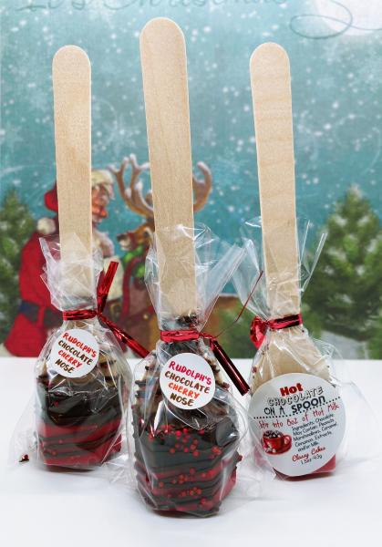 Rudolph's Chocolate Cherry Hot Cocoa Spoon
