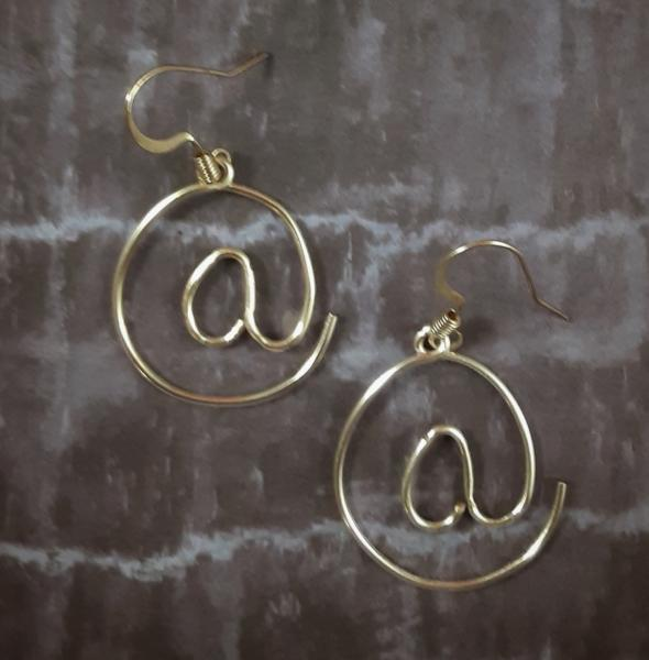 """At Symbol"" Wire Earrings"