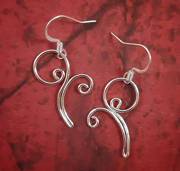 Small Curl Wire Earrings