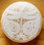 Selenite Charging Plate Dragon Fly 3""