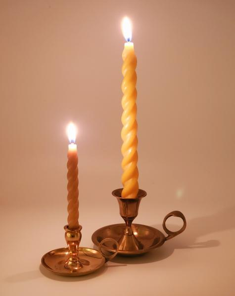 Beeswax Spiral Taper Candle set picture