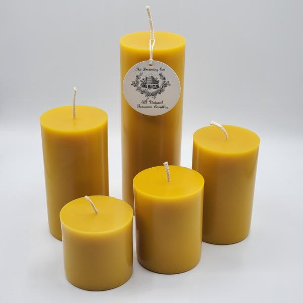 Beeswax Pillar Candle 3X3