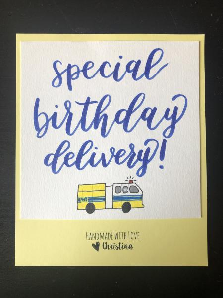 Birthday Card + Engine Delivery!