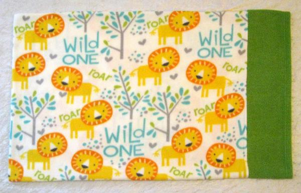 Wild One Lions Adult Size Fleece Pillowcase