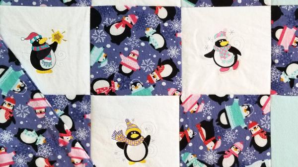 Winter Penguins Soft Flannel Blanket