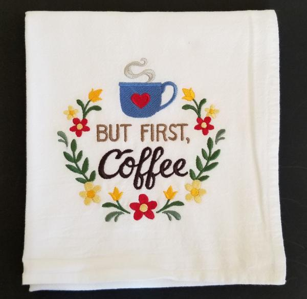 But first Coffee Extra Large Flour Sack Towels