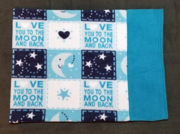 Love you to the moon  Kids Small Fleece Pillowcase