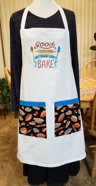 Good Things Come to those who BAKE Embroidered Adult Apron Great Gift! picture