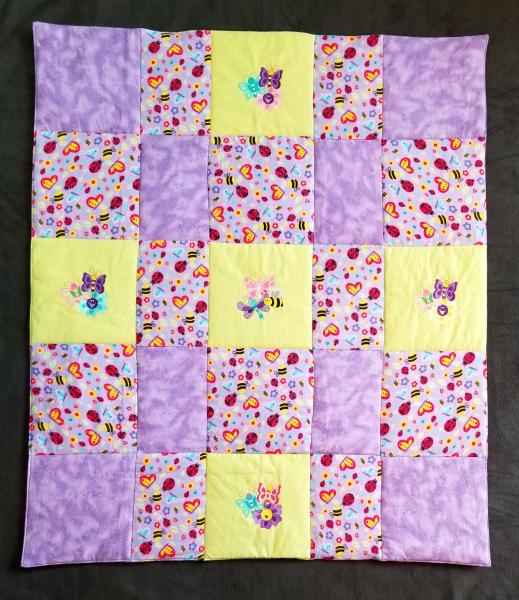 BUTTERFLIES and BEES S Soft Flannel Blanket